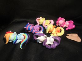 New set of nearly complete Sleeping ponies! 4 sale by EarthenPony