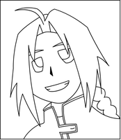FMA: Chibi Ed Lineart by madhouse1991