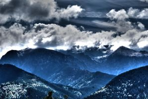 surrealistic mountains by Mortsnort