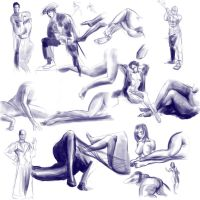 Gesture Drawing 1 by BinaryDood