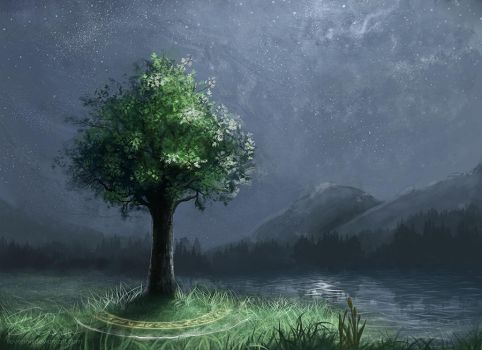 Runic Tree by vlean