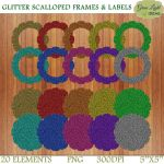 Free Glitter Frames And Labels by GreenLightIdeasGLI