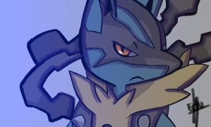 Mega Lucario by blueryuk