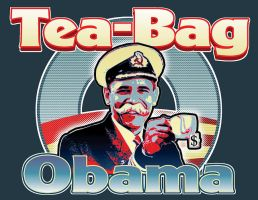Teabag Obama by JefferyWright