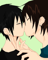 .:Cute Yaoi Kiss:. by BlackNinjadude