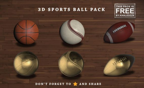 3D Sports Ball Pack by khaledzz9