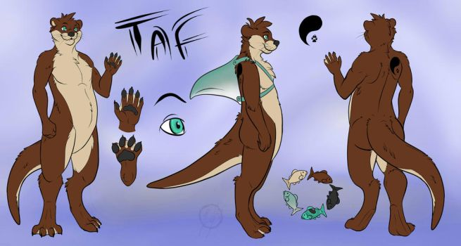 Taf Otter Ref Sheet Update by Taffybear