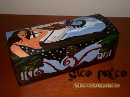 Goddess Artemis Wodden Box by GatoPretoArtesanato