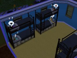 Sims 3: Beauregarde Girls and I sleep in bunk beds by Magic-Kristina-KW