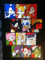 Sonic Heroes paintings by TheScarecrowOfNorway