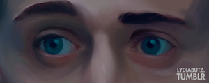 DEM EYES - Loki Painting by Girl-on-the-Moon