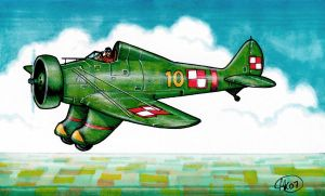 Polish P-26 Peashooter by Frohickey