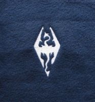 Embroidered Skyrim logo by scuff13