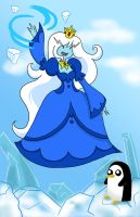 Ice Queen and Gunter by chibimonkies
