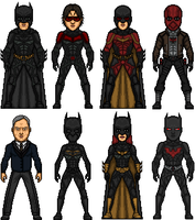 Nolanised Bat-Family by MicroTraceour
