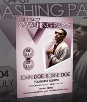SMASHING PARTY FLYER -PSD- by retinathemes