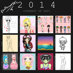2014 Art Summary by fluffycat58