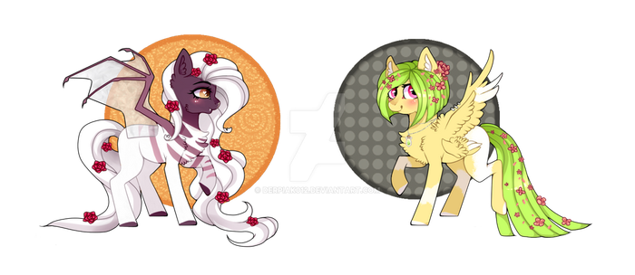 Rose and Cherry Pony Adopts (CLOSED) by Derpiak012