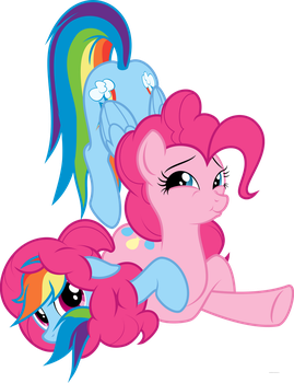 Thinking with Pinkie Pie's mane by RandomlyWhimsical
