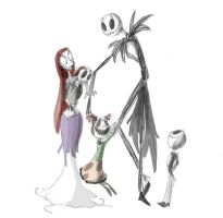 The Skellington's by Ghost-Peacock