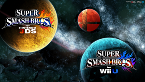 Super Smash Bros. Wii U/3DS Logo Wallpaper #74 by TheWolfBunny