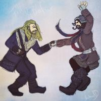 Fili and Bofur by AlbinoNial