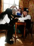 A Big Bad Guest at the Hatter's Tea Party by Farumir