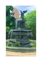 Central Park Fountain by plaidklaus