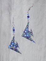 Origami Angelfish Earrings by sakuralu83