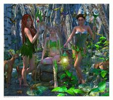 Woodland Druid by SweetHoney3d