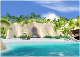 Tropical Island [XPS] by deexie