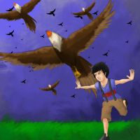 KID AND BIRDS by ppchan