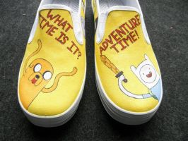Adventure Time Shoes I by Misfit-Mistress