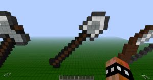Minecraft Pixel Spade by REV3LATIONS