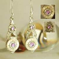 Handcrafted Steampunk drop Earrings by Henri-1