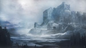 castle in snow by MultiTiger65
