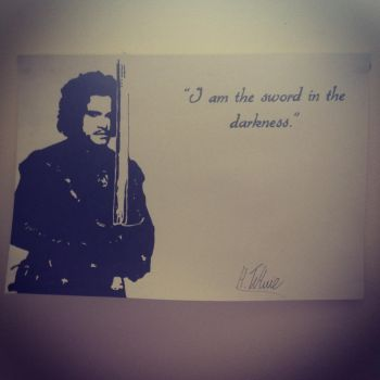 Jon Snow GoT Stencil by Hillbro