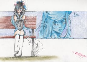 .::Blue Cat Eyes::. by EvilPink95