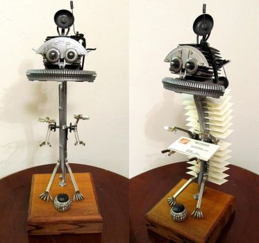 Robotic Business Card Holder by zimzim1066