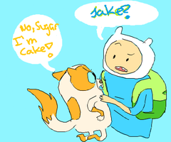 Finn and Cake??? by sailor663