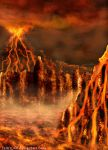 Background Practice 3_Volcanic by Tsitra360
