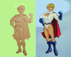 New Power Girl sketch by svettzwo