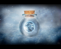 A world in a bottle by Azenor