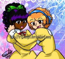 .:Evelyn and Thelisa:. by MamuEmu