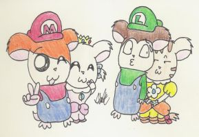 It's-a Me, Hamtaro by HamSamwich