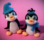 Penguin Toppers by scrltphnx