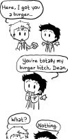 SPN-- Burger Bitch by KaruLeonnese