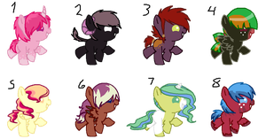 Mass pony adopts-open- by oCrystal