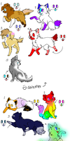 Canines and Felines batch #1 :OPEN: (One left) by SSAdopts13