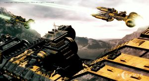 The BattleCarrier and Bcruiser by UEGProductions